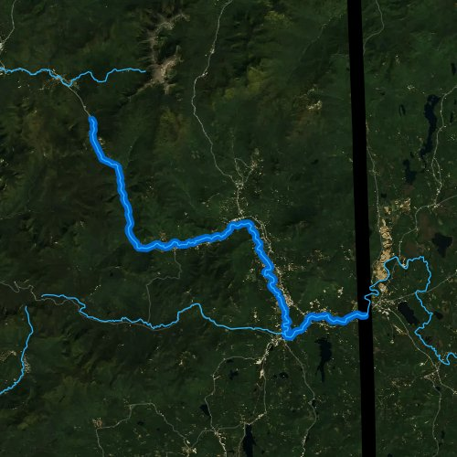 Fly fishing map for Saco River, New Hampshire