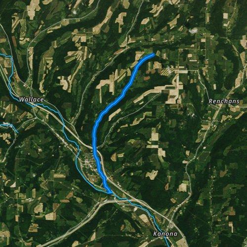 Fly fishing map for Salmon Creek, Pennsylvania