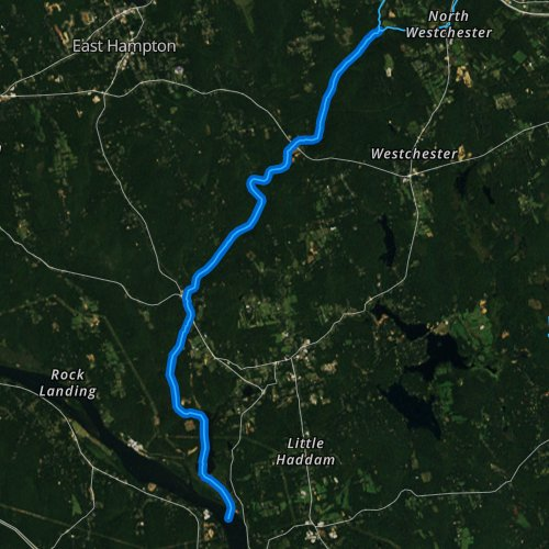 Fly fishing map for Salmon River, Connecticut