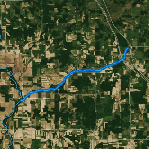 Fly fishing map for Sand Creek, Wisconsin