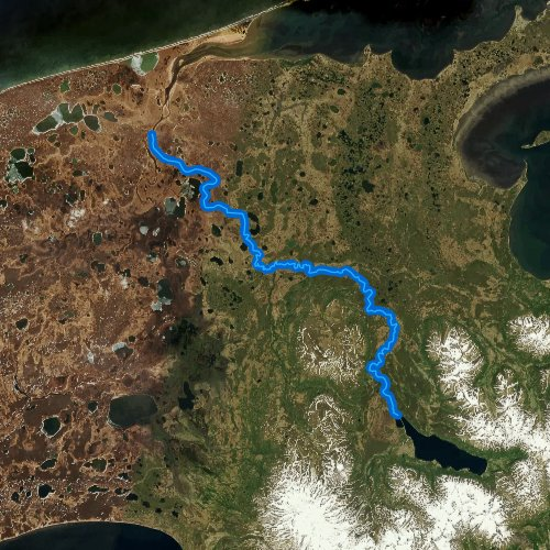 Fly fishing map for Sapsuk River, Alaska