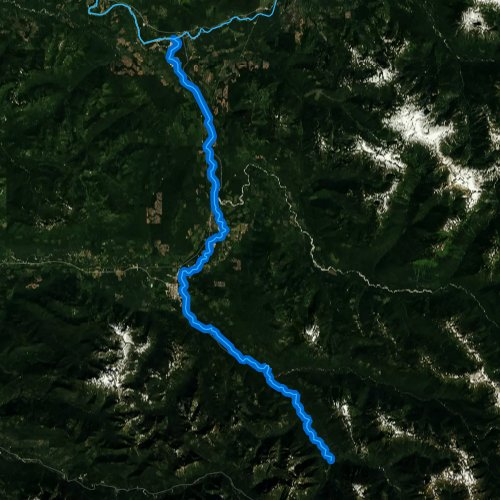 Fly fishing map for Sauk River, Washington