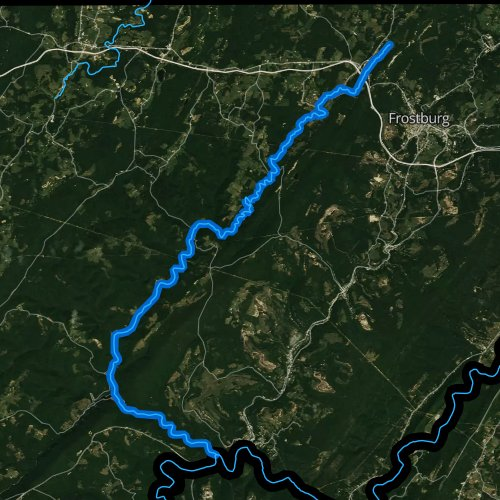 Fly fishing map for Savage River, Maryland