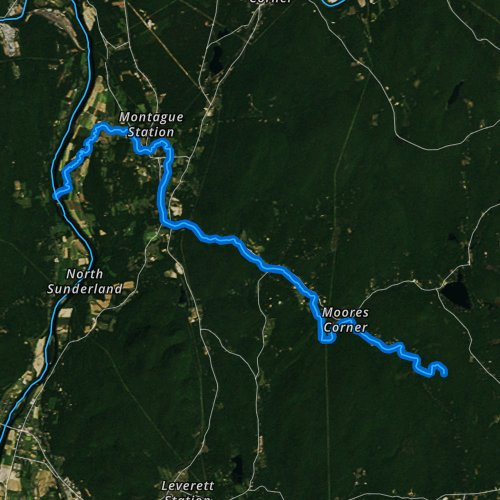 Fly fishing map for Sawmill River, Massachusetts