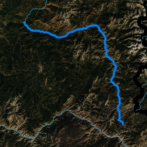 Fly fishing map for Selway River, Idaho