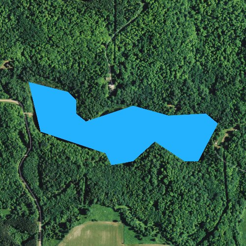 Fly fishing map for Shearer Lake, Wisconsin