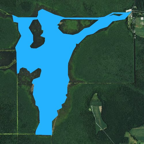 Fly fishing map for Sheboygan Lake, Wisconsin