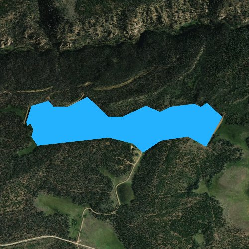 Fly fishing map for Sheep Creek Lake, Utah