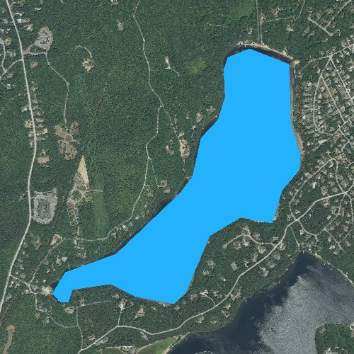 Fly fishing map for Sheep Pond, Massachusetts