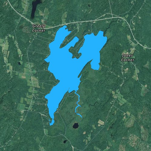 Fly fishing map for Sheepscot Pond, Maine
