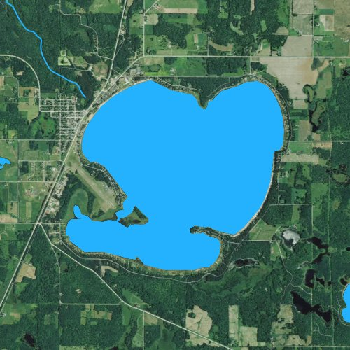 Fly fishing map for Shell Lake, Wisconsin