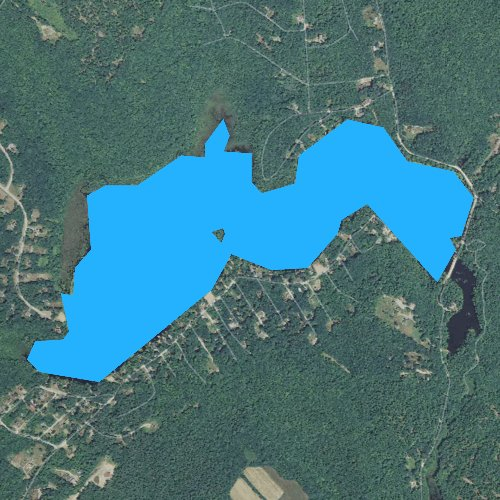 Fly fishing map for Shellcamp Pond, New Hampshire