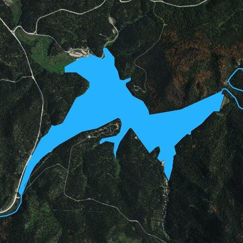 Fly fishing map for Sheridan Lake, South Dakota