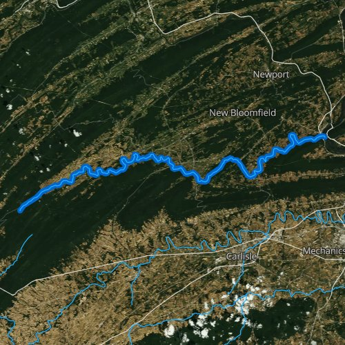 Fly fishing map for Sherman Creek, Pennsylvania