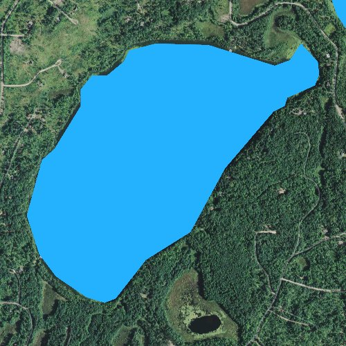 Fly fishing map for Shoal Lake, Wisconsin