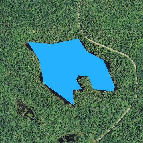 Fly fishing map for Shoe Lake, Minnesota
