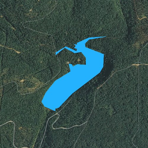 Fly fishing map for Shores Lake, Arkansas
