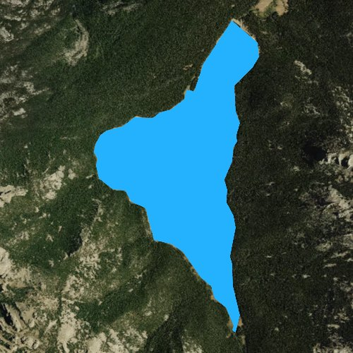 Fly fishing map for Shoshone Lake, Wyoming
