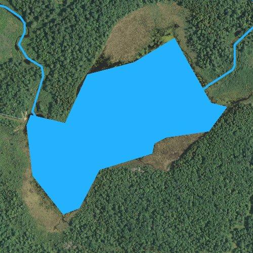 Fly fishing map for Shumans Lake, Pennsylvania