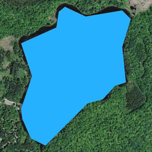 Fly fishing map for Shumway Lake, Minnesota