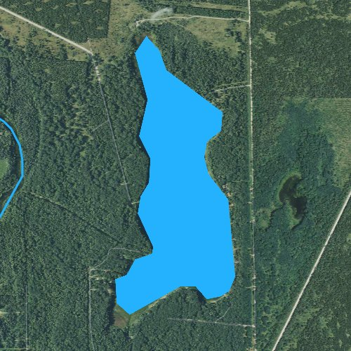 Fly fishing map for Shupac Lake, Michigan