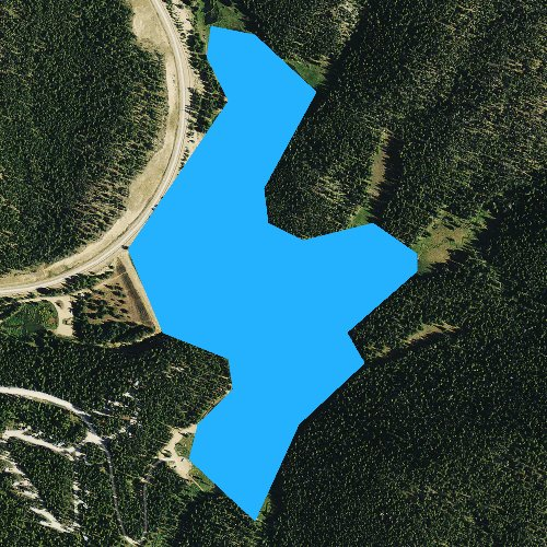 Fly fishing map for Sibley Lake, Wyoming