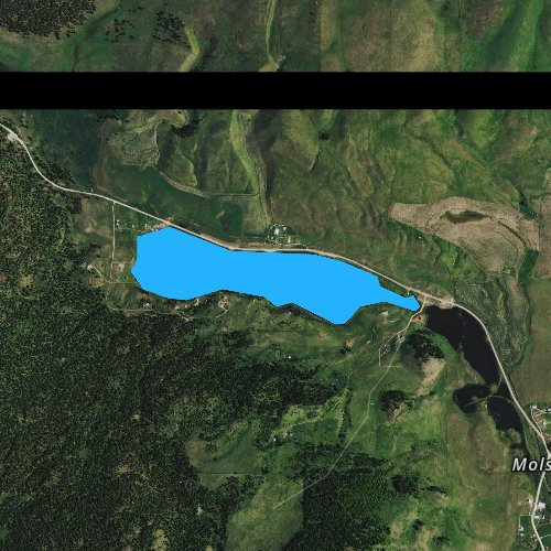 Fly fishing map for Sidley Lake, Washington
