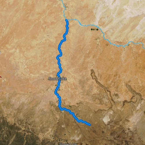Fly fishing map for Silver Creek, Arizona