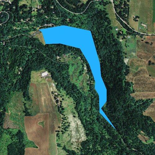 Fly fishing map for Silver Creek Reservoir, Oregon
