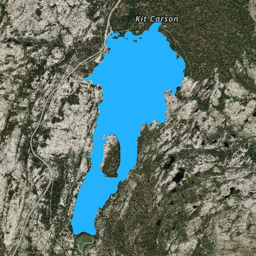 Fly fishing map for Silver Lake: Amador, California