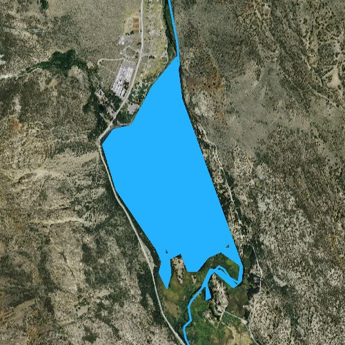 Fly fishing map for Silver Lake, California