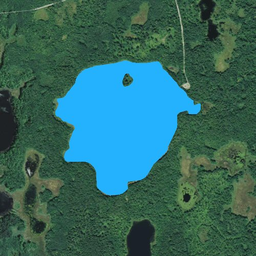 Fly fishing map for Silver Lake: Cass, Minnesota
