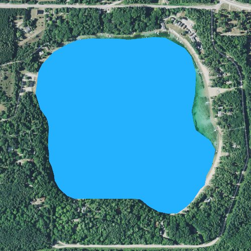 Fly fishing map for Silver Lake: Cheboygan, Michigan