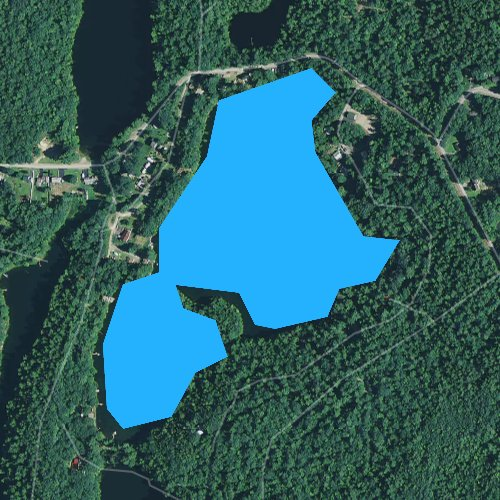 Fly fishing map for Silver Lake, Maine