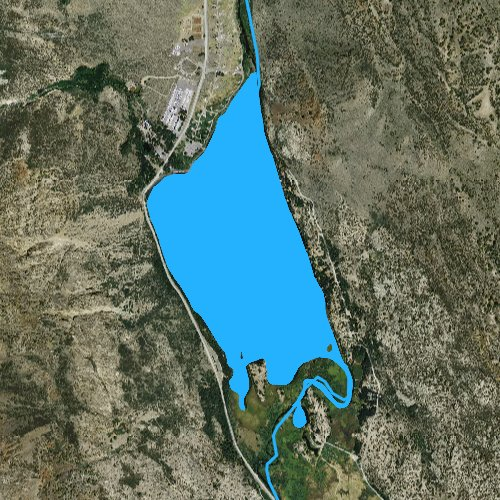Fly fishing map for Silver Lake: Mono, California