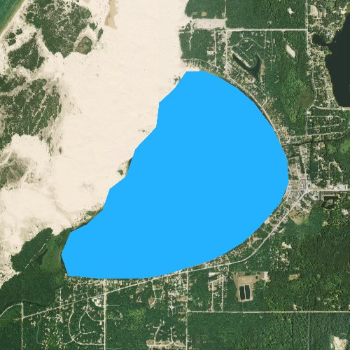 Fly fishing map for Silver Lake: Oceana, Michigan