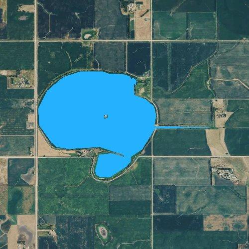 Fly fishing map for Silver Lake, South Dakota