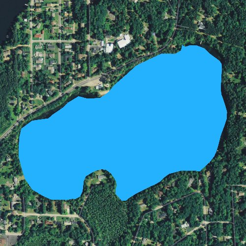 Fly fishing map for Silver Lake: Vilas, Wisconsin