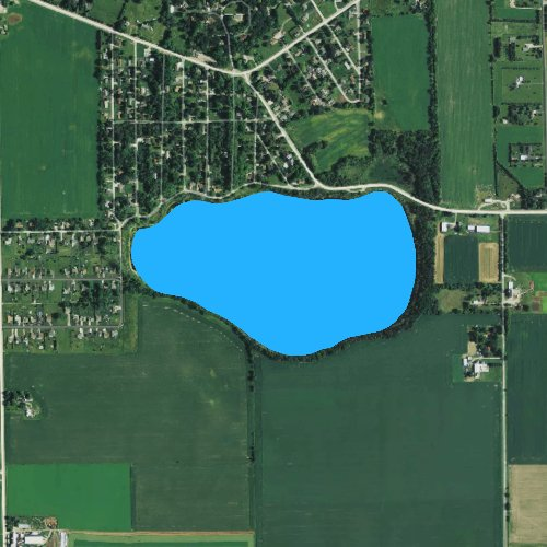 Fly fishing map for Silver Lake: Walworth, Wisconsin