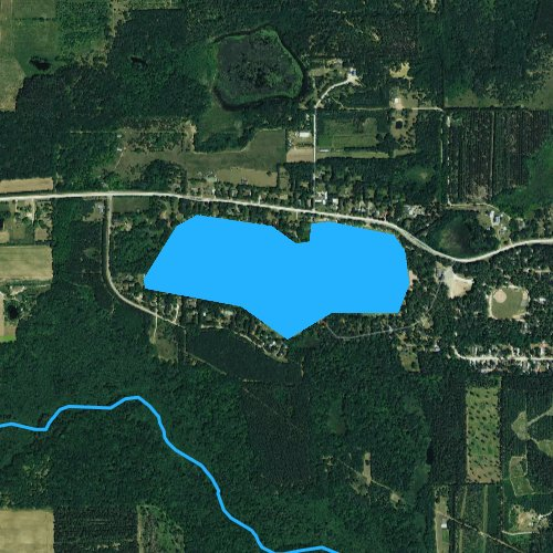 Fly fishing map for Silver Lake, Wisconsin