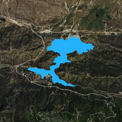 Fly fishing map for Silverwood Lake, California