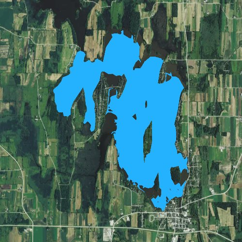 Fly fishing map for Sinissippi Lake, Wisconsin