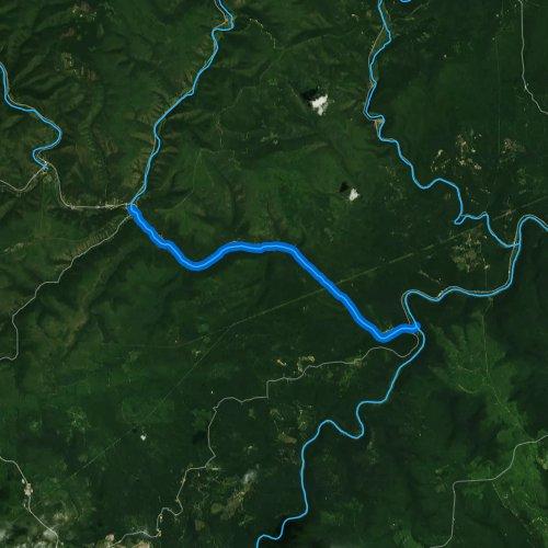 Fly fishing map for Sinnemahoning Creek, Pennsylvania