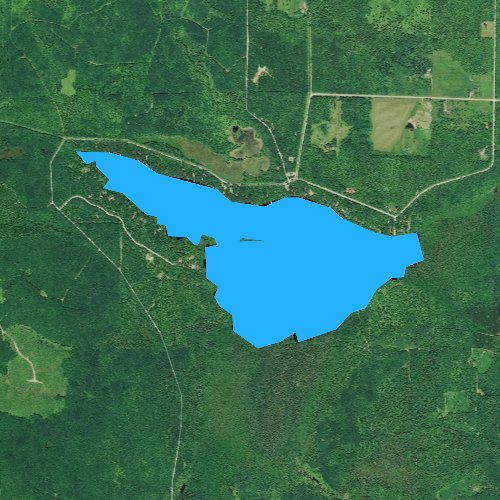 Fly fishing map for Siskiwit Lake, Wisconsin