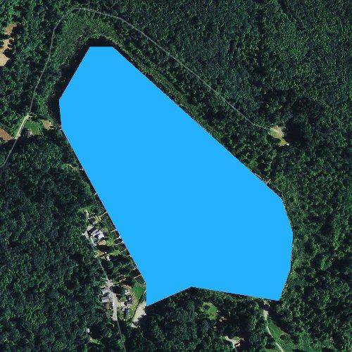 Fly fishing map for Sixteen Lake, Washington