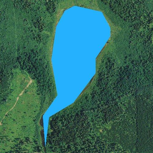 Fly fishing map for Skimerhorn Lake, Minnesota