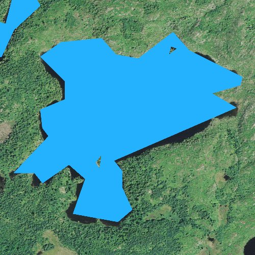 Fly fishing map for Skindance Lake, Minnesota