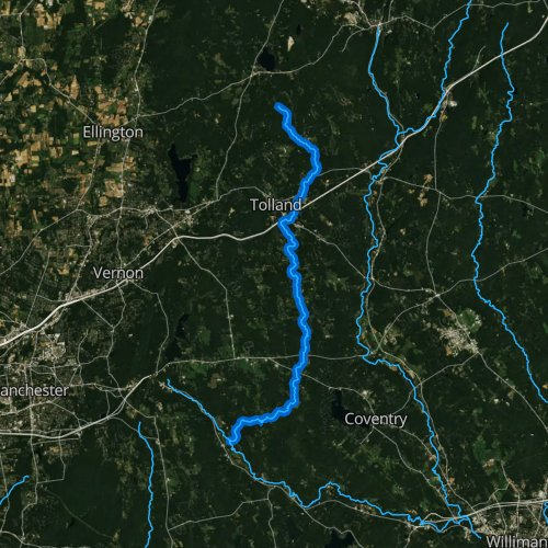 Fly fishing map for Skungamaug River, Connecticut