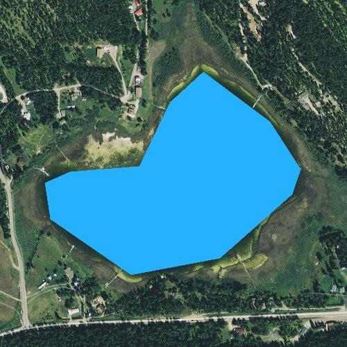 Fly fishing map for Skyles Lake, Montana