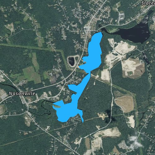 Fly fishing map for Slatersville Reservoirs, Rhode Island
